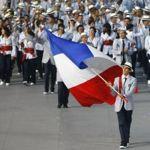 La délégation française conduite par Tony Estanguets. Crédits photo: Reuters/Mike Blake.