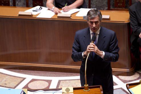 Le ministre délégué au Budget, Jérôme Cahuzac, à l'Assemblée nationale le 18 juillet.
