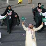 La délégation saoudienne lors de la cérémonie d'ouverture des Jeux de Londres. Crédits photo: Mike Blake / Reuters