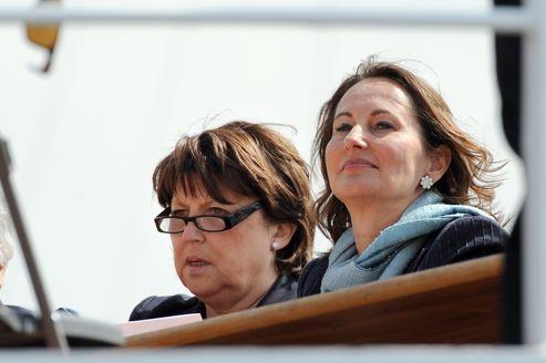Martine Aubry et Ségolène Royal, en juin dernier, à La Rochelle, pendant la campagne des législatives.