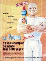 Mr Propre est aujourd'hui le leader des nettoyants ménagers liquides en France.
