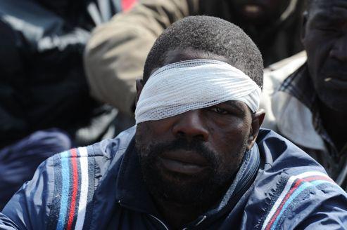 Un mineur blessé de Marikana, samedi.