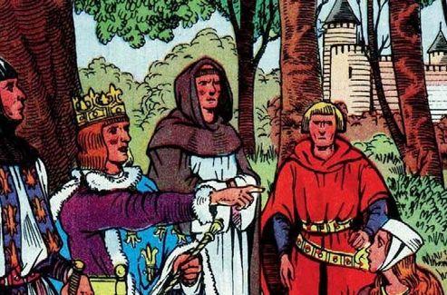 «Saint Louis rend la justice», Illustration du manuel scolaire de Bernard et Redon