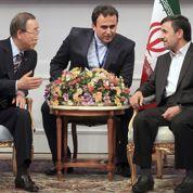 Ban Ki-moon sermonne l'Iran à Téhéran