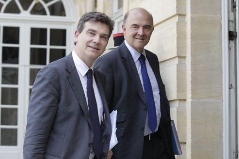 La polémique sur la Banque publique d'investissement a donné lieu à des piques entre Pierre Moscovici et Arnaud Montebourg.
