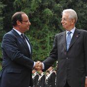 Hollande et Monti pressent la BCE d'agir sur les dettes