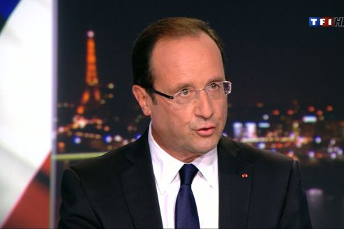 François Hollande, dimanche soir, sur TF1.