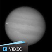 Jupiter frappée par un corps céleste