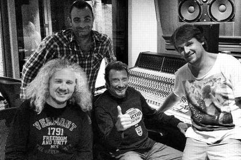 Johnny et David Hallyday sont de retour en studio