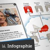 Sept otages français retenus en Afrique