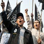 Manifestation à Jakarta, en Indonésie.