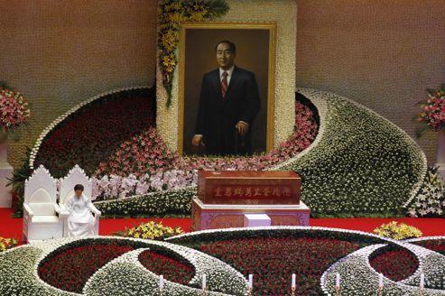 Samedi à Gapyeong, lors des obsèques du révérend Moon .