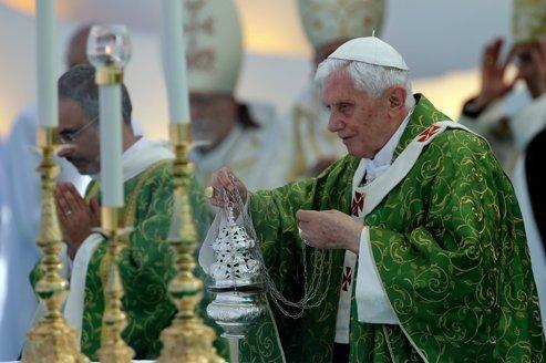 Benoît XVI, à Beyrouth, ce dimanche.