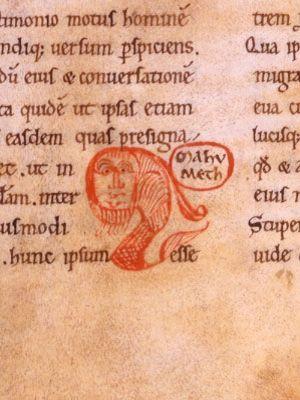Détail de la première version latine du Coran (1141-1143), un ouvrage conservé à la BnF.