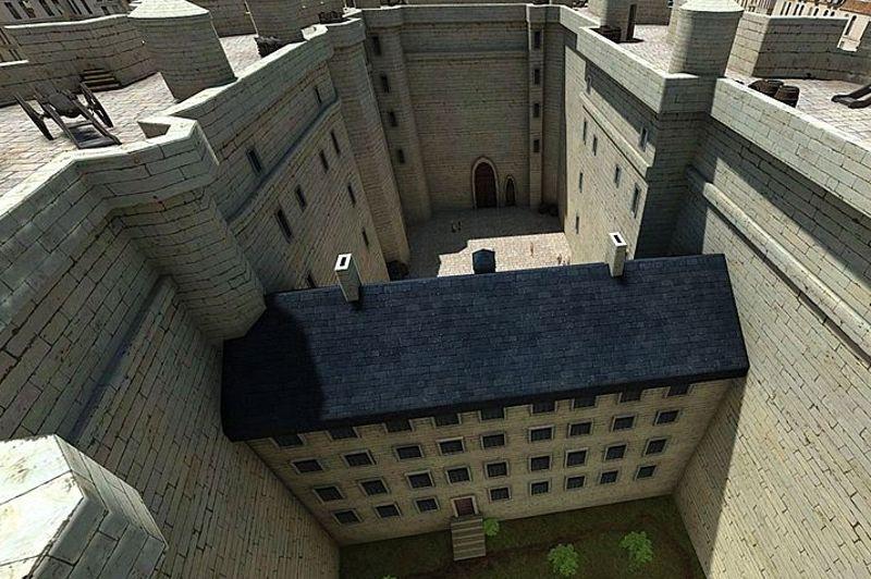 <strong>LA BASTILLE</strong><br/><br/>Cour intérieure de la Bastille.