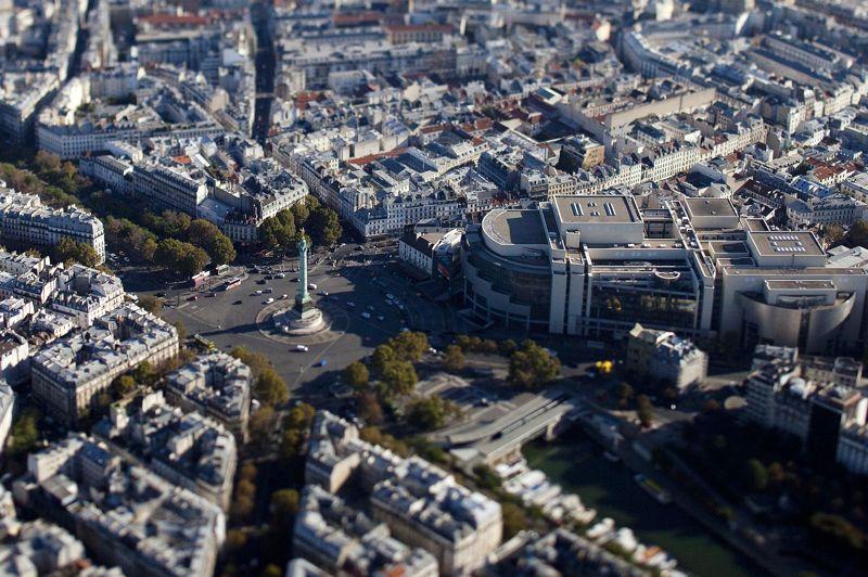 <strong>LA BASTILLE</strong><br/>Vue de l'actuelle place de la Bastille.