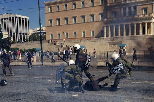 Des échauffourées ont entaché la manifestation organisée mercredi à Athènes.