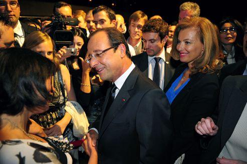 François Hollande et Valérie Trierweiler, mardi, au Roseland.