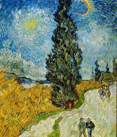 En 1890, Van Gogh consacre plusieurs dessins et peintures à des études de  Cyprès  qu'il compare à des obélisques égyptiens.