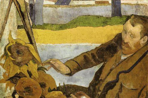 Van Gogh peignant des tournesols  (1888) , Gauguin.