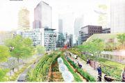 Création de terres agricoles urbaines sur le périph' parisien.