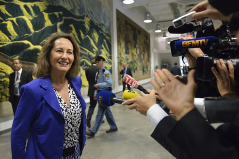 Ségolène Royal au congrès de l'Internationale socialiste, le 26 septembre à New York.