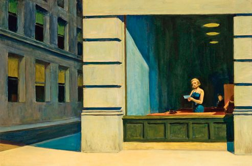 Edward Hopper:   New York Office  , 1962.