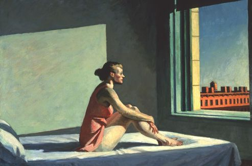 Edward Hopper:  Morning Sun , 1952.