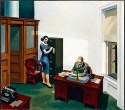 Edward Hopper:  Office at Night , 1940.