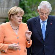 Monti baisse les impôts, Merkel en rêve