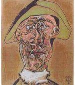 Tête d'Arlequin  de Pablo Picasso.