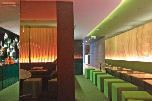 Le bar O, un cocon de style végétal et japonisant.