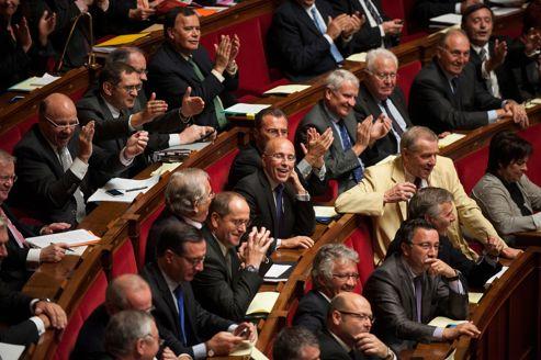 Les députés UMP pendant la séance de questions au gouvernement, mardi à l'Assemblée nationale.