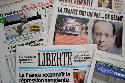 François Hollande fait laune des quotidiens algériens.