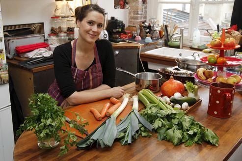 Marion Proust, chef à domicile, prépare une cuisine de marché avec un penchant diététique.
