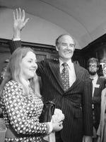 Avec sa fille Terry en 1972.