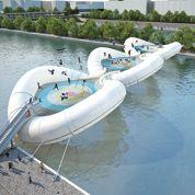 Un trampoline au-dessus de la Seine
