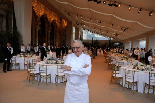 Alain Ducasse, à la terrasse de l'Opéra, à Monaco.