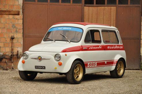 La Fiat 500 Giardiniera Abarth (1963), estimée entre 12.000 et 16.000 €.