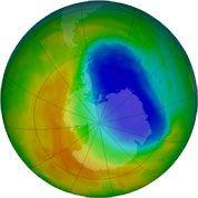 Un petit trou dans la couche d'ozone en 2012