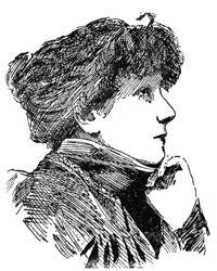 Gravure non datée représentant Sarah Bernhardt de profil.