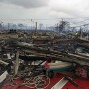 Dégâts spectaculaires à New York après Sandy