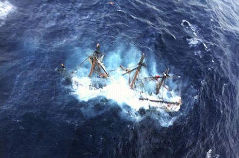 Le HMS Bounty a coulé lundi 29 octobre, à près de 145 km des côtes de Caroline du Nord