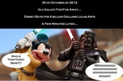 «Qui est ton père?», lance Mickey à Dark Vador.