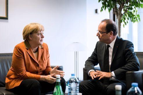La chancelière Angela Merkel et François Hollande, en octobre dernier, à Bruxelles.