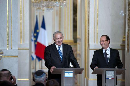 Selon son entourage, Benyamin Nétanyahou a trouvé François Hollande «exceptionnellement ouvert et réceptif».