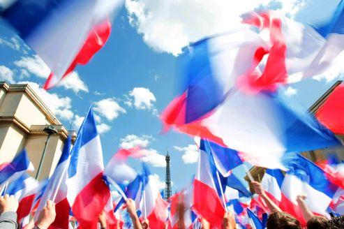 En mai dernier, les drapeaux tricolores flottaient place du Trocadéro lors d'un meeting de Nicolas Sarkozy.