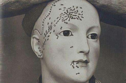 Le grand Man Ray (1890-1976) fut le pionner de la photo moderniste et surréaliste. Ci-dessus:  Buste de femme rétrospectif de Dali .