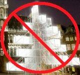 L'installation sur la Grand-Place de Bruxelles (DR)