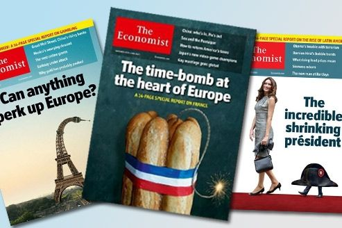 The Economist ,une tradition de unes chocs anti-françaises